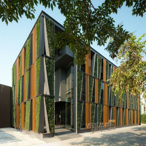 Moderne Architektur Huser Moderne Wohnhuser Vertikaler Garten.