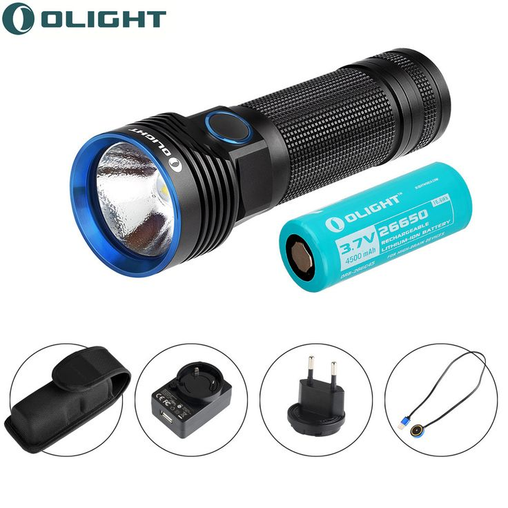 wilderness survival Olight Rechargeable torch Max 3200 Lumens R50 PRO Seeker Side-switch lanterna led Flashlight with Cree XHP70 LED Torch Light *** Click the VISIT button to enter the AliExpress website