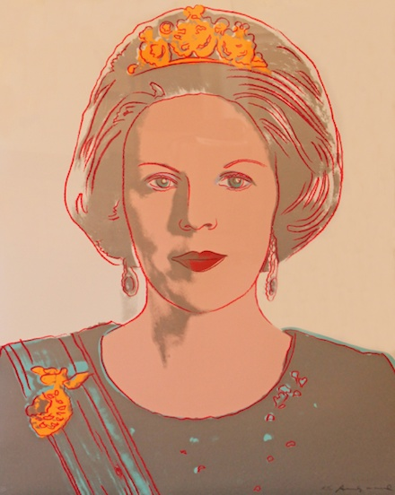 Portrait of Queen Beatrix of the Netherlands, by Andy Warhol