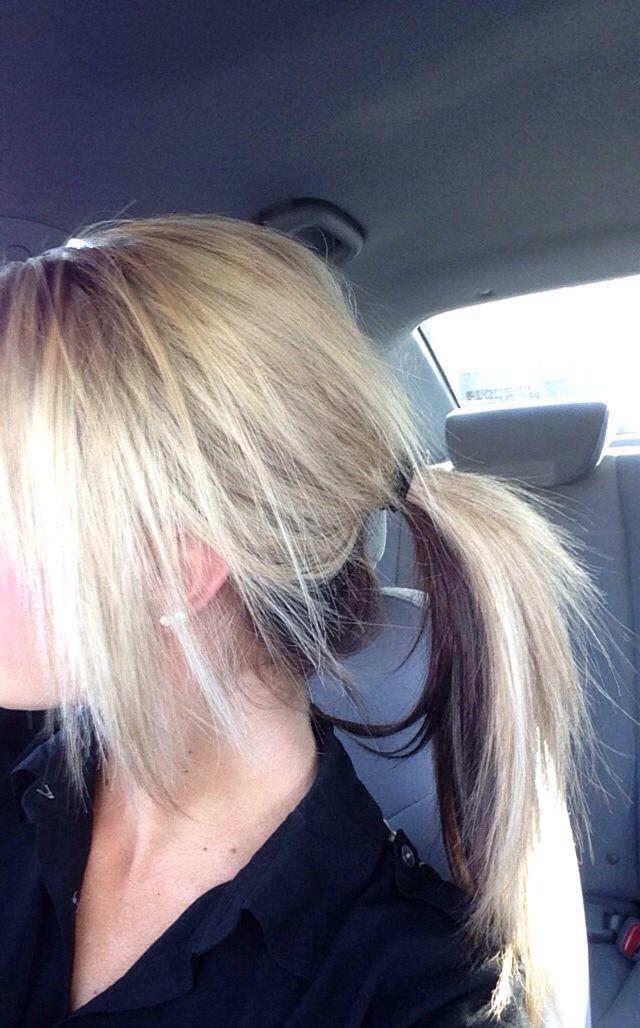 Half Black Half Blonde Hair Underneath Www Pixshark Com