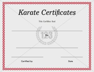 karate certificates templates free - 16 best sports certificate images on pinterest