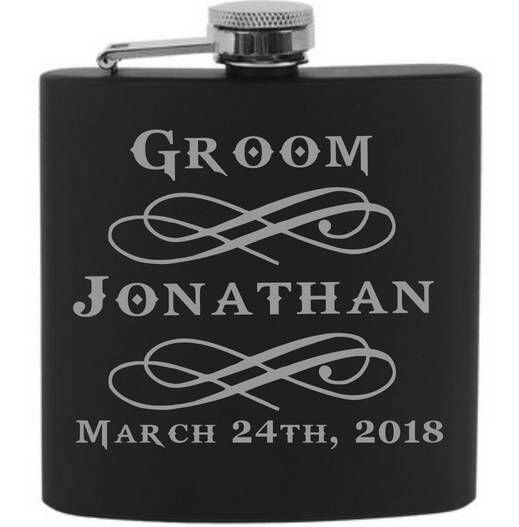 Groomsmen Flask - Personalized Flask - Custom Flask - Monogrammed Flask - Groomsman Flask - Hip Flask - Groomsmen Gift - Groom Gift - Flask by CharmingChace on Etsy https://www.etsy.com/listing/531334975/groomsmen-flask-personalized-flask