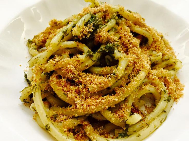 Pasta con sarde, mollica e finocchietto, #Sicily #Food