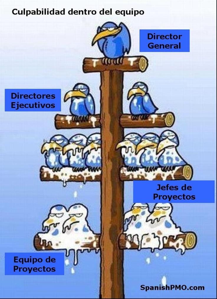 Parodia que recrea con chiste y humor la Jerarquia laboral en las empresas y los equipos de trabajo.