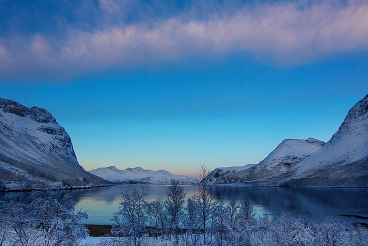 The blue hour welcomes you  Photo by Nina L. Walthinsen