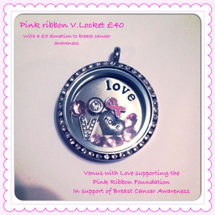 Special offer v.locket set for Breast Cancer Awareness. £5 from every sale is donated to the pink ribbon foundation. #pinkribbon