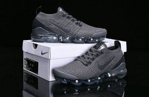 8dcfe08e3af Nike Air Vapormax Flyknit 2019 Triple Grey AJ6910-007 Women s Men s Running  Shoes