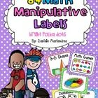 Organizing Math Manipulatives Made Easy & Super Cute!  This pdf contains 80 Math Manipulative Labels and 4 Blank Labels.  Just print, cut, lami...
