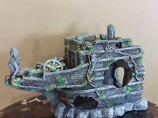 "Large Shipwreck With Mermaid Fish Tank Aquarium Ornament 18"" Long in Pet Supplies, Fish & Aquariums, Decorations   eBay"