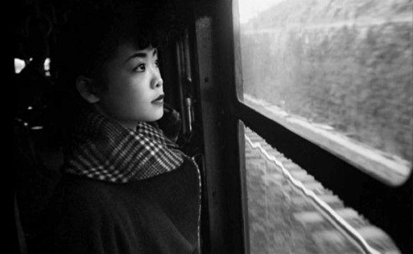Michiko on the Train to Tokyo, Japan, 1951. Photo: Werner Bischof