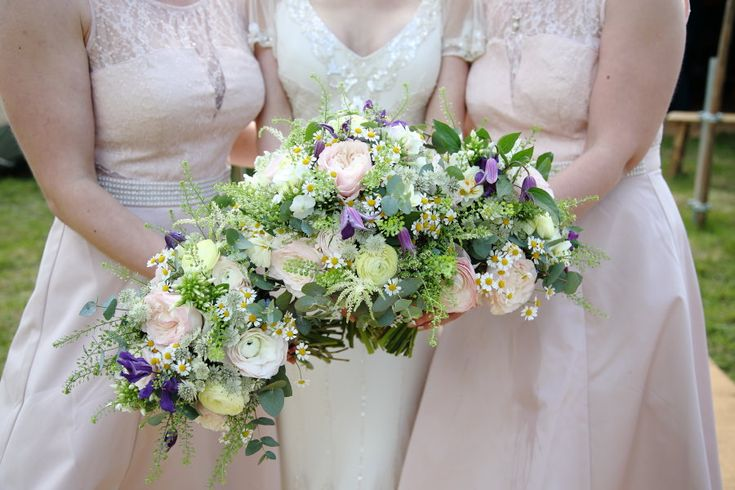 pretty flowers at essex wedding