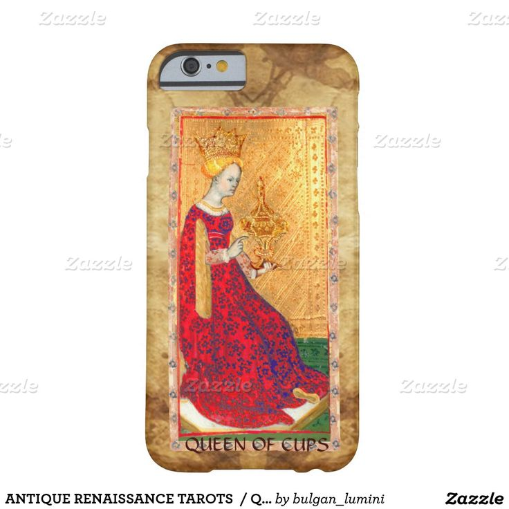 ANTIQUE RENAISSANCE TAROTS  / QUEEN OF CUPS BARELY THERE iPhone 6 CASE