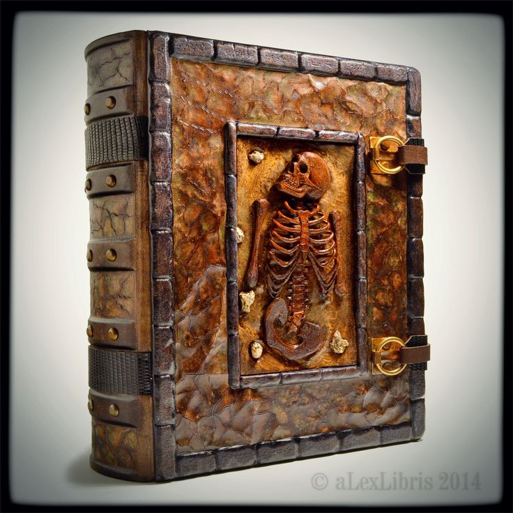 The Haunted One... ...last custom made grimoire book in 13 x 11 inches, thickness more than 4 inches, 754 pages of heavy parchment paper. www.alexlibris-bookart.com