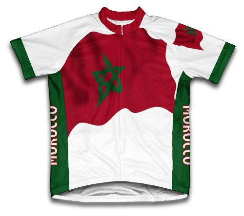 Morocco Flag Short Sleeve Cycling Jersey for Men  Size XL *** Check out the image by visiting the link.Note:It is affiliate link to Amazon.