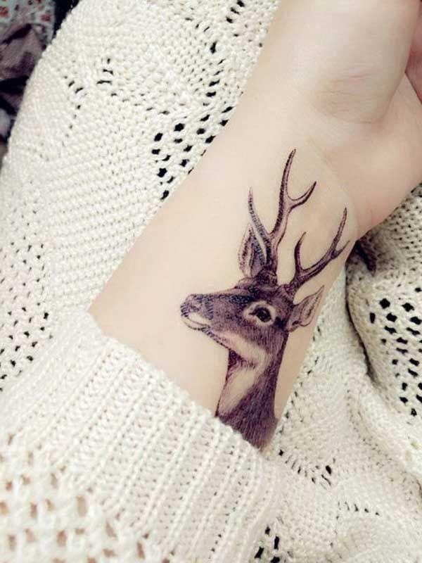 bilek içi sevimli geyik dövmesi cute deer tattoo