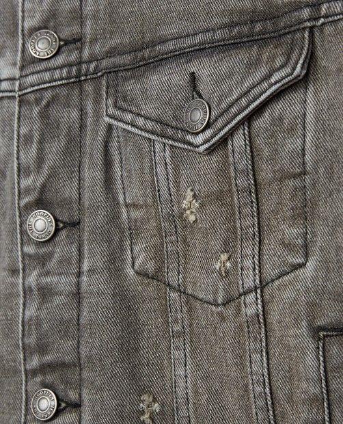 Destroy grey denim jacket - Collection THE KOOPLES
