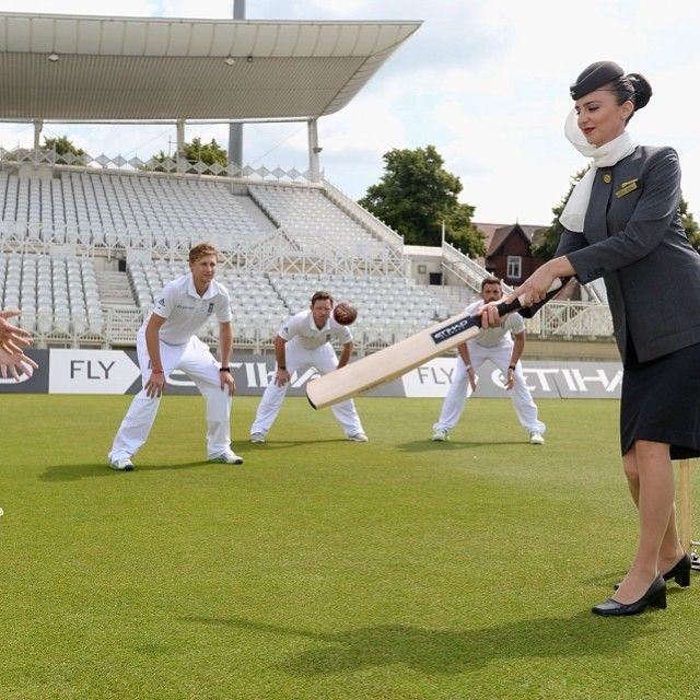 We've just announced a 3year partnership with the England and Wales Cricket Board, naming us as the official airline. #England #Cricket #Etihad #CabinCrew #OfficialAirline #TrentBridge