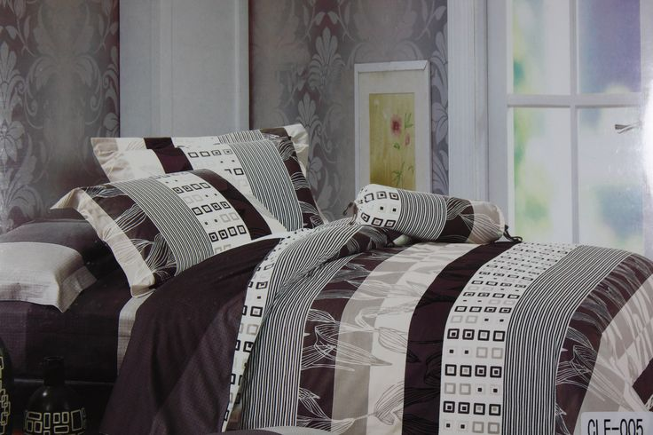 Looking for a unique design Bed Linen Set to give a unique look to your bedroom? If yes, pick this 275*275cm King Size Bed Linen Set in classy combination of Dark Brown and White Geometrical Pattern which promises to give a trendy and elegant look to your simple bedroom of all interiors. The bed sheet set is made in fine quality cotton fabric which is soft to touch and easy to maintain.