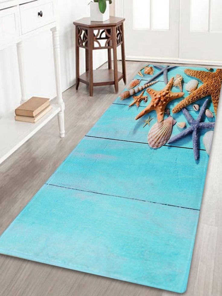 Larger Water Absorbent Starfish Plank Bath Rug