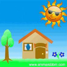 Dp Animasi Kartun Bergerak Gerah Matahari Panas