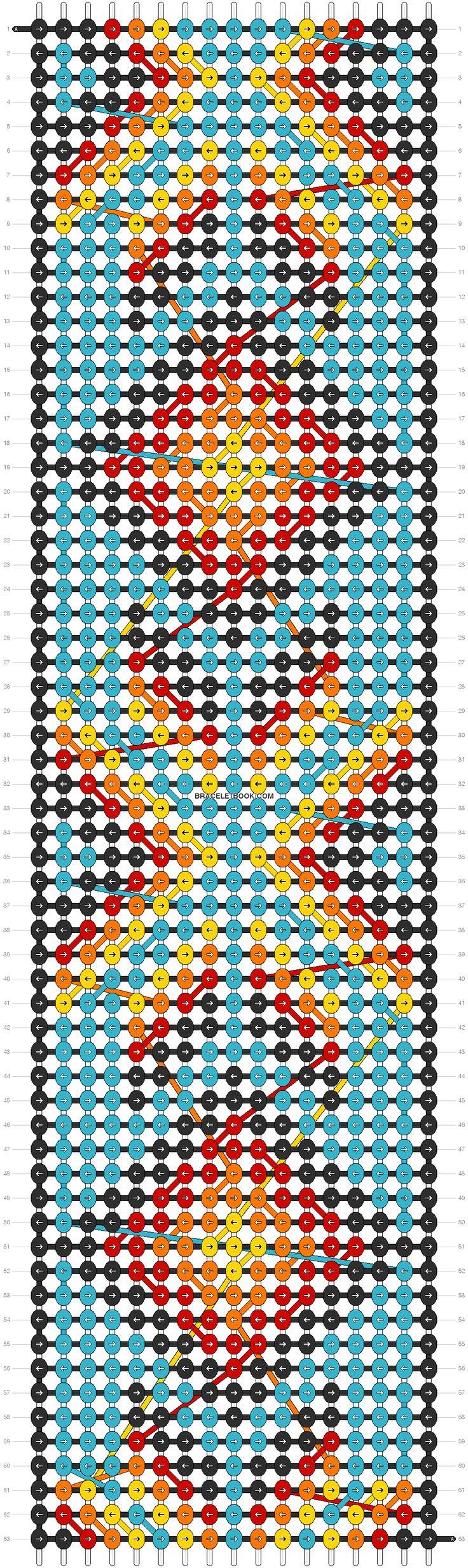 Native American Friendship Bracelet Pattern  Google Search