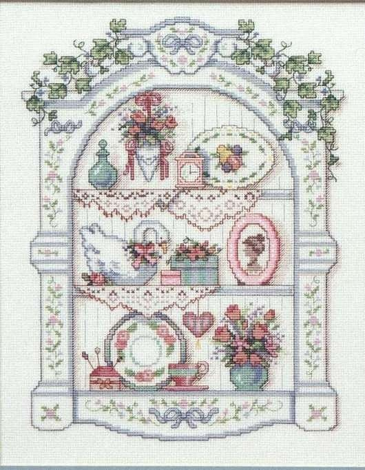 Cross-stitch Vintage.. no color chart available, just use pattern chart as you color guide... Gallery.ru / Фото #1 - Victorian - Dona