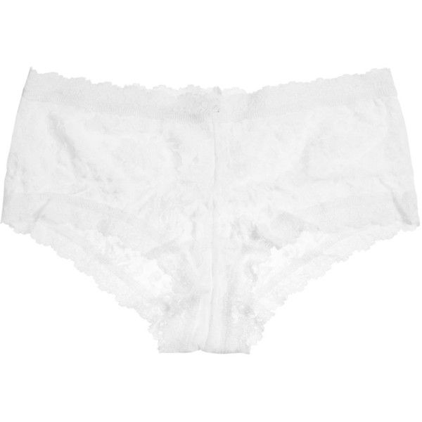 Hanky Panky Signature White Lace Boy Shorts - Size S (2.780 RUB) ❤ liked on Polyvore featuring intimates, panties, hanky panky, hanky panky boyshort, lace boyshorts and lacy boyshorts