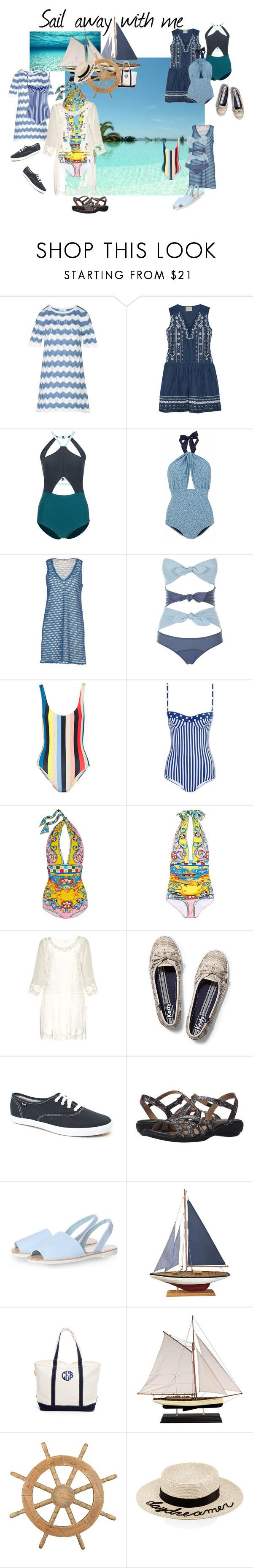 Perfect  Sail Away by ravenleeart liked on Polyvore featuring George J Love Sea New York Flagpole Swim Lilliput u Felix See by Chlo Lisa Marie