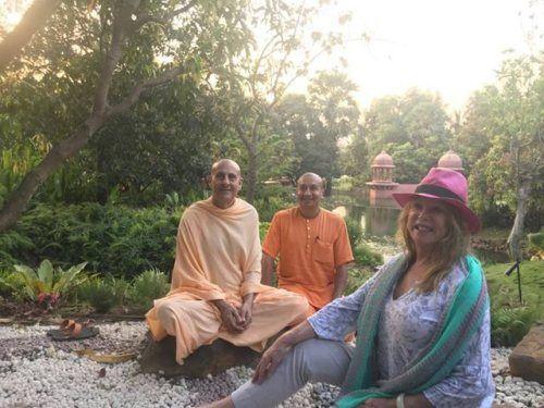 Pattie Boyd, first wife of George Harrison, visits Govardhan Ecovillage, Mumbai. Gauranga Das: Radhanath Swami and I gave Patti...