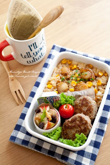 "Butter soy sauce rice lunch of corn and baby scallops. | Mom's official blog Ru ~ ""Oh daily lunch weather ♪"" Powered by Ameba"