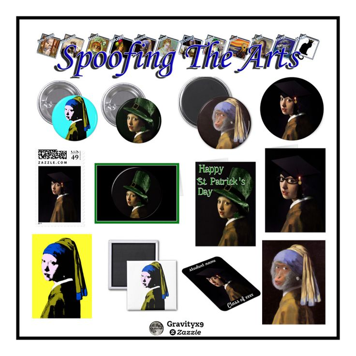 #SpoofingtheArts Collection at  Zazzle...variety products designed with a parody of  Vermeer's famous masterpiece.  by #Gravityx9 Designs
