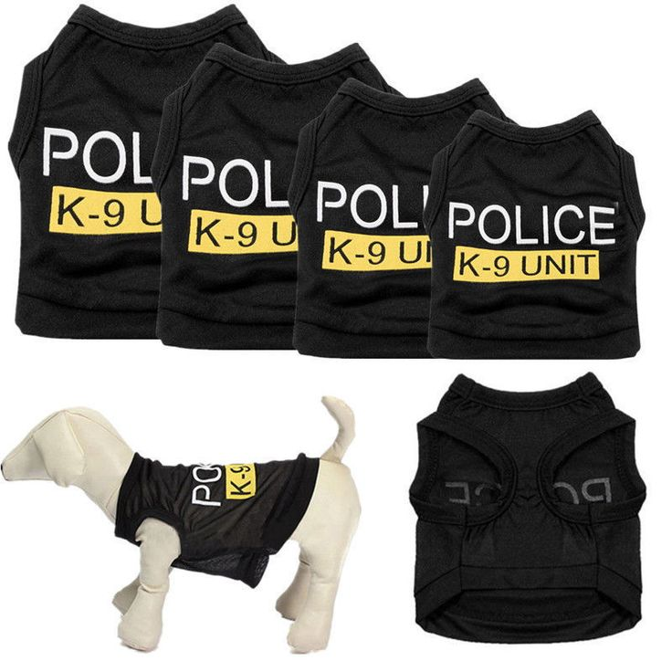 awesome Small Dog Cat Vest Police Puppy T-Shirt Coat Pet Clothes Summer Apparel Costumes