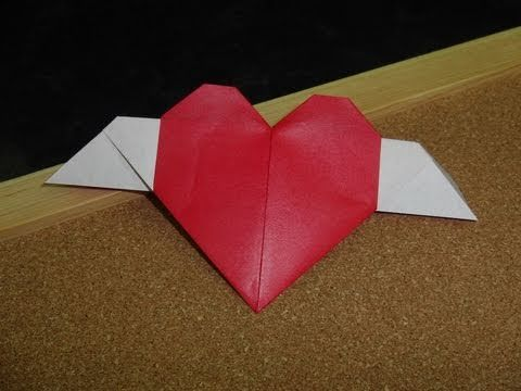 Origami:  Heart with Wings  Designed by:  Fumiaki Shingu  Made by:  Heather  ----------  Today is two hundred and twenty-seven in the series.  Today we continue our new series to honor Valentine's Day.  There are many different kinds of hearts that can be made with origami.  Today we make a heart that has wings.  This is an easy project that creates...