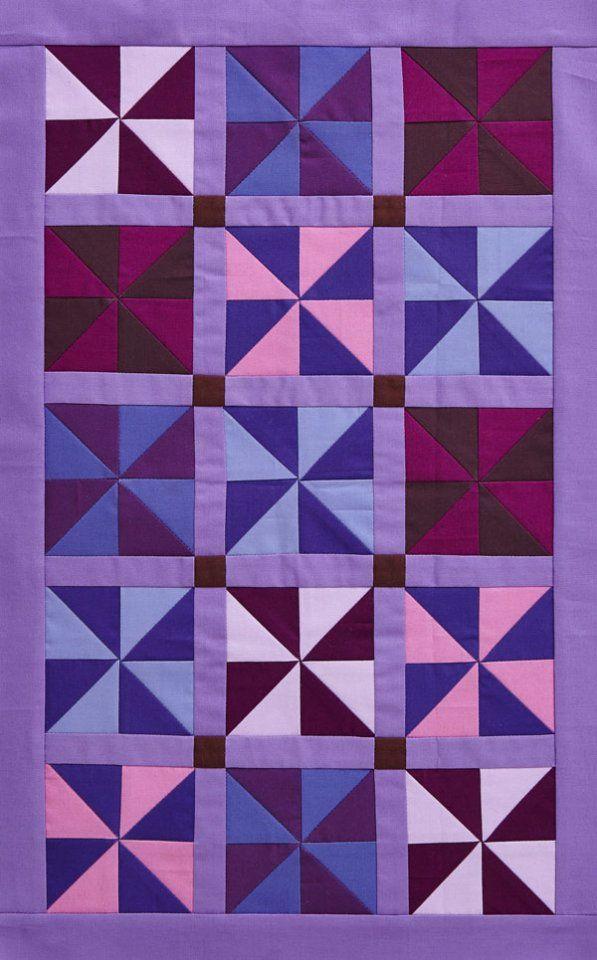Free Pattern Simply Solid Pinwheel Table Runner