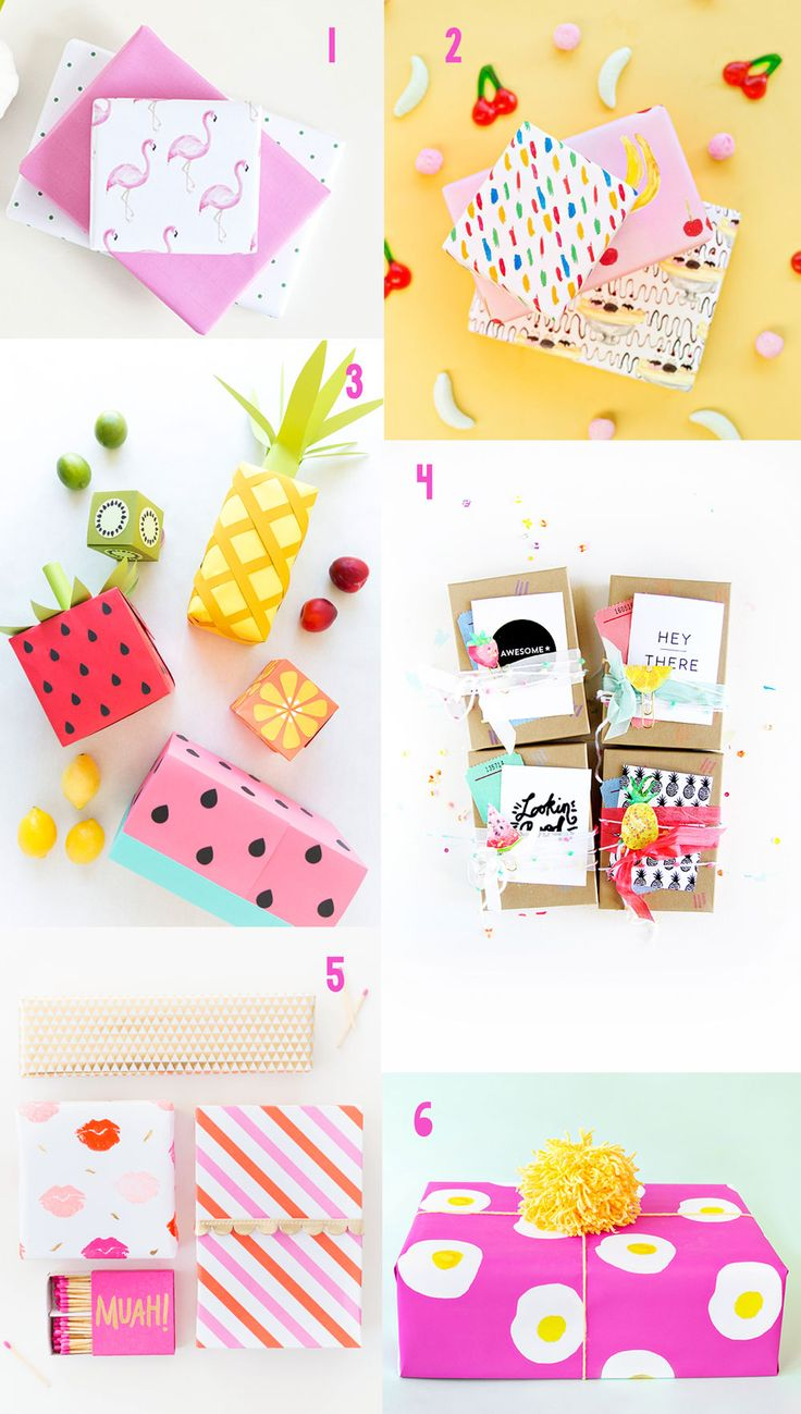 Here are 6 fun and colorful gift wrapping ideas that you HAVE to try! Including some fun free printables and clever ways to make any present the absolute cutest!