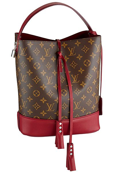 Louis Vuitton... it would be perfect if it had a zipper. when open top bags topple over-- ugh!