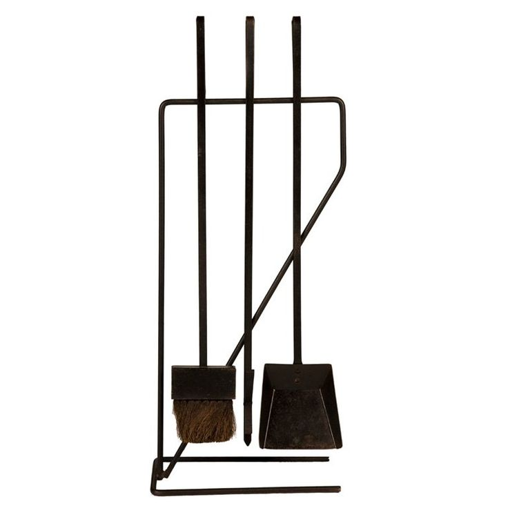 Modernist Wrought Iron Fireplace Tool Set after George Nelson   From a unique collection of antique and modern fireplace tools and chimney pots at https://www.1stdibs.com/furniture/building-garden/fireplace-tools-chimney-pots/