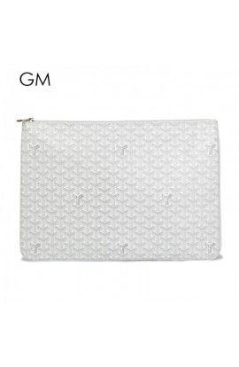 Goyard Clutch Bag GM White