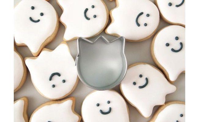 Fun friendly ghost sugar cookies using a tulip cookie cutter