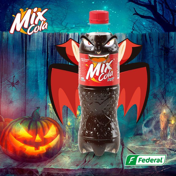 ¡Una botella terrorífica!  Aunque lo intentamos, Halloween se apoderó de nuestro Flow, y ahora todas nuestras presentaciones siembran el terror.  #DondeHayMixHayFlow #halloween