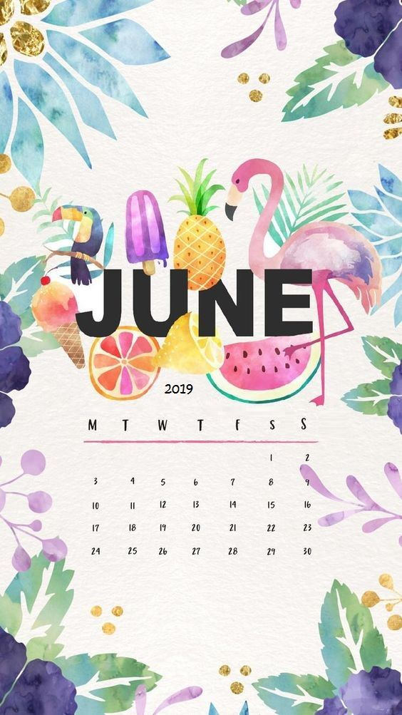 Fruits painting June 2019 iPhone Wallpaper Calendar ...