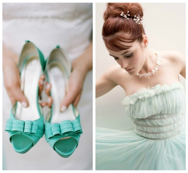 Shoes and Dress  #wedding #shoes #bridesmaids #dress #mint