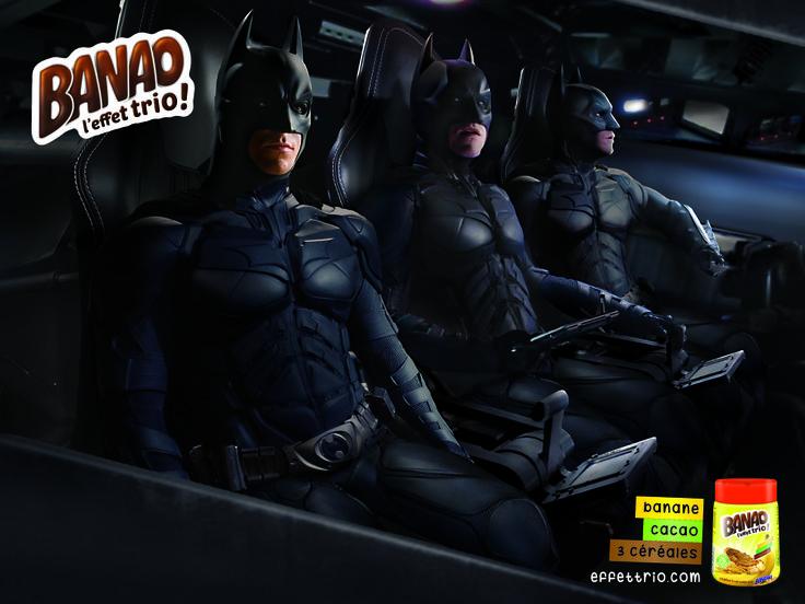BANAO Campaign - L'effet trio - Batman