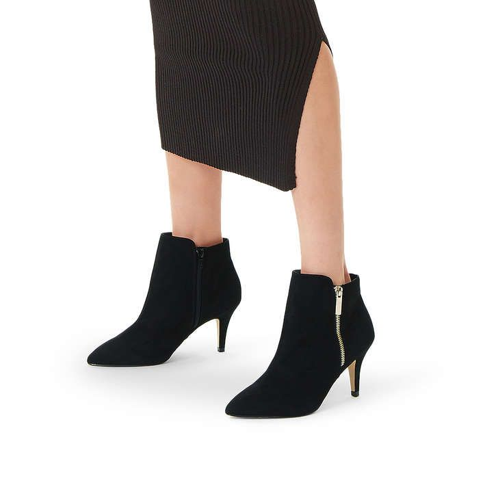 Sphinx Black Suedette Ankle Boots By