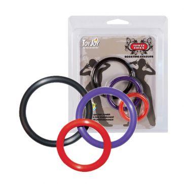Multicolor Triple Rings www.ero10k.dk/multicolor-triple-rings.html Multicolor Triple Rings er 3 penisringe af silikone til brug omkring både penis og pung for større seksuel nydelse.