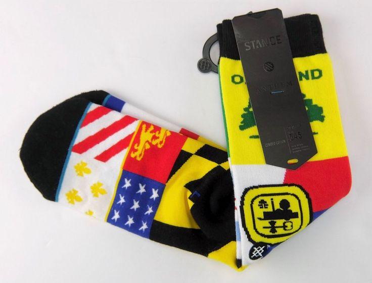 Stance Battlefields Mens City Flags Crew Socks Multicolor Soccer Size L 8-12 #Stance #SoccerThemedCrew