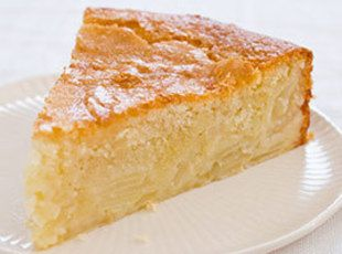 I need to figure out how to make this paleo... French Sweet Custard Apple Cake Recipe