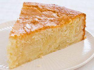 French Sweet Custard Apple Cake
