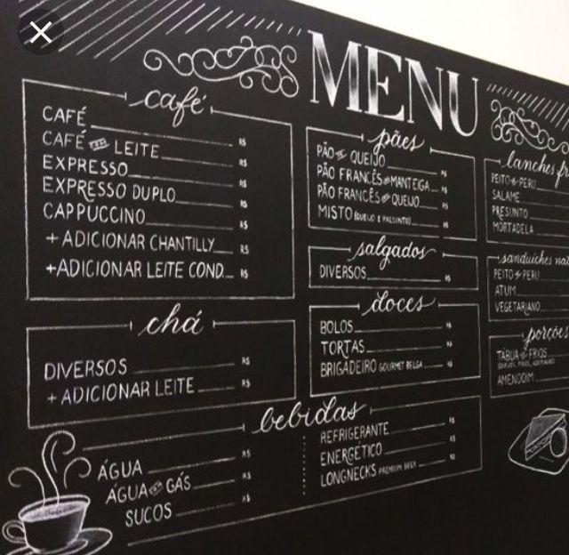 Menu Have A Chalk Board Menu Up Of Things We Can Make For Dinner Lunch Snacks Coffee Menu Cafe Menu Boards Coffee Shop Menu