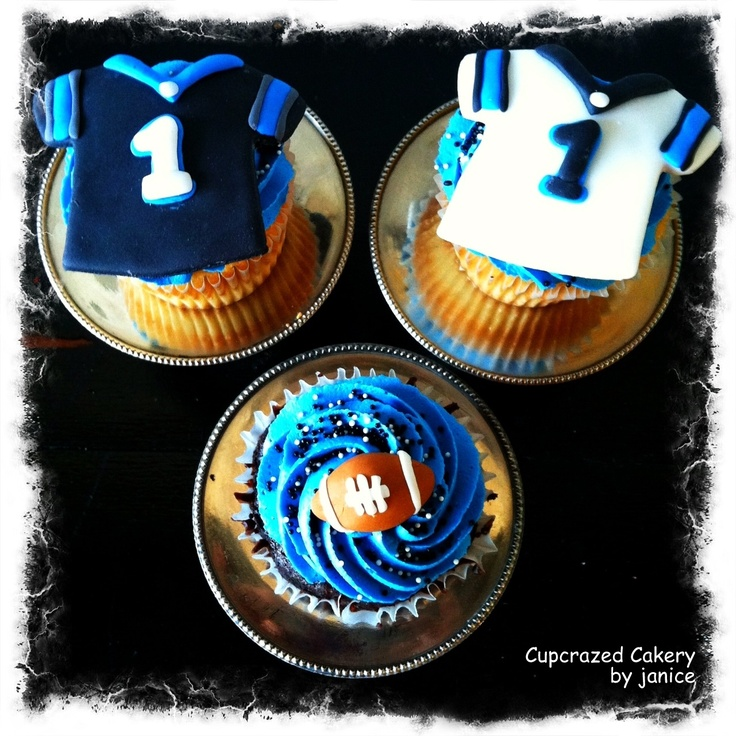 Cam Newton Birthday Cupcakes by Cupcrazed Cakery